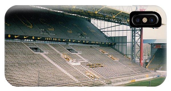 Borussia Dortmund iPhone Case - Borussia Dortmund - Westfalenstadion - West Stand 1 - April 1997 by Legendary Football Grounds