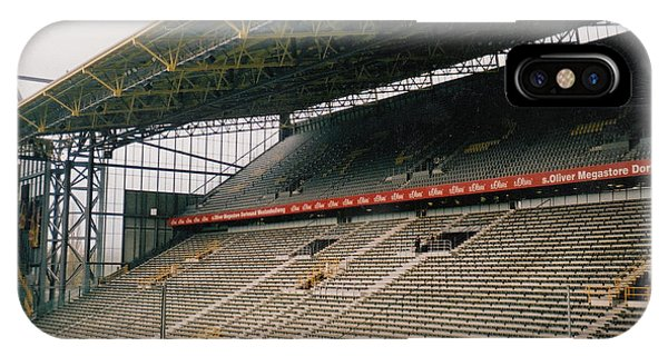 Borussia Dortmund iPhone Case - Borussia Dortmund - Westfalenstadion - West Stand 2 - April 2001 by Legendary Football Grounds