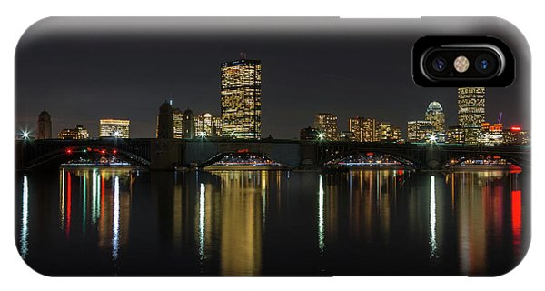 Boston Skyscrappers Behind Bridge IPhone Case