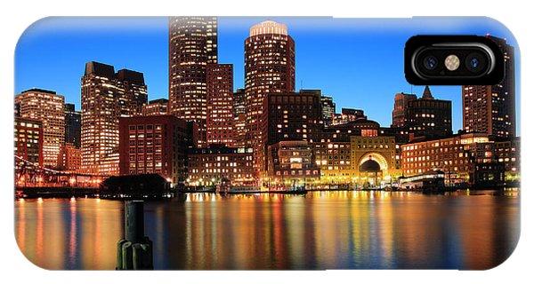 Chain iPhone Case - Boston Aglow by Rick Berk
