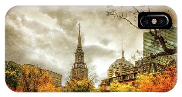 Boston Autumn Splendor IPhone Case