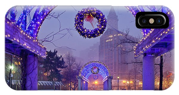 Boston Blue Christmas IPhone Case
