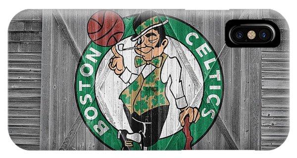 Celtics iPhone Case - Boston Celtics Barn Doors by Joe Hamilton