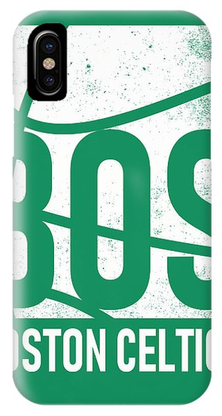 Celtics iPhone Case - Boston Celtics City Poster Art by Joe Hamilton