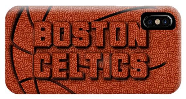 Celtics iPhone Case - Boston Celtics Leather Art by Joe Hamilton