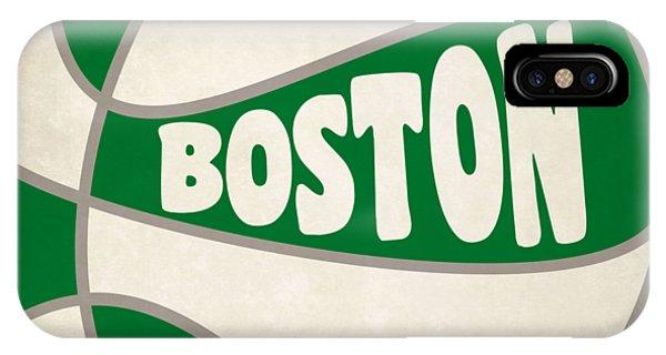 Celtics iPhone Case - Boston Celtics Retro Shirt by Joe Hamilton