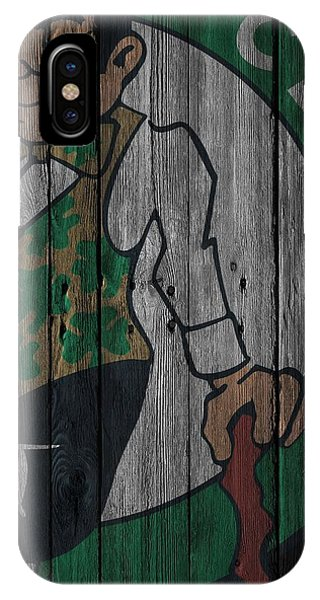 Celtics iPhone Case - Boston Celtics Wood Fence by Joe Hamilton