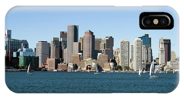IPhone Case featuring the photograph Boston City Skyline by Steven Frame