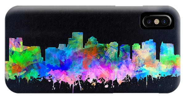Boston City Skyline Watercolor 16 IPhone Case