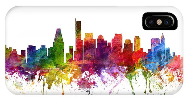 Boston Cityscape 06 IPhone Case