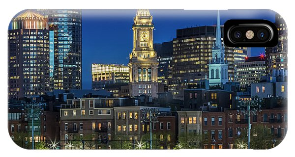 Boston Evening Skyline Of North End And Financial District IPhone Case
