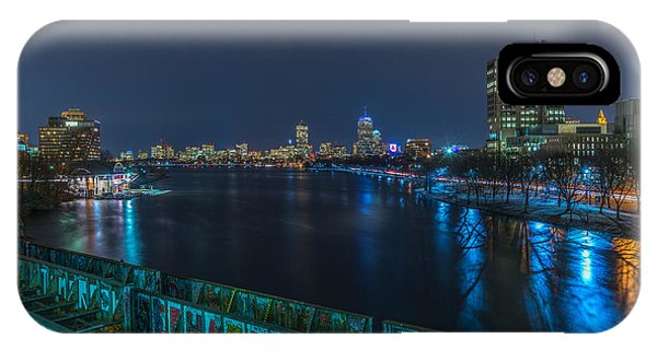 Boston From The Boston University Bridge IPhone Case