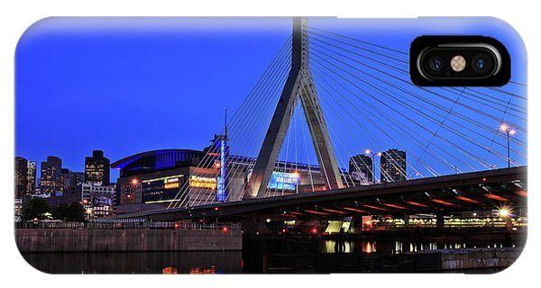Boston Garden And Zakim Bridge IPhone Case