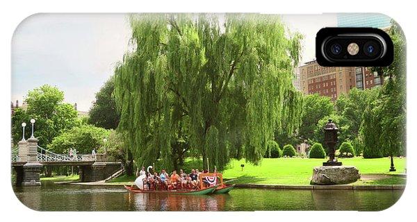Boston Garden Swan Boat IPhone Case