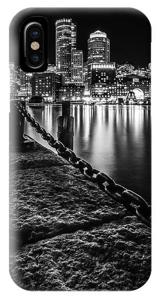 Boston Harbor At Night IPhone Case