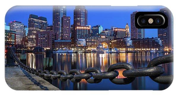 Boston Harbor Blue IPhone Case