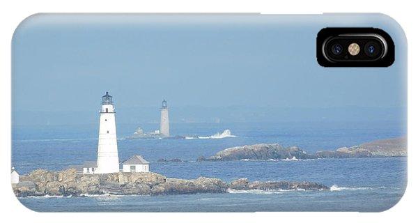 Boston Harbor Lighthouses IPhone Case