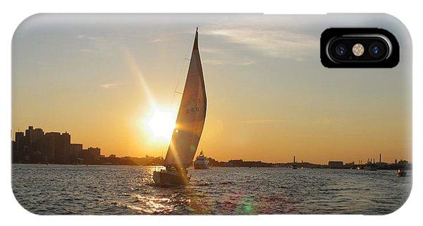 Boston Harbor Sunset IPhone Case