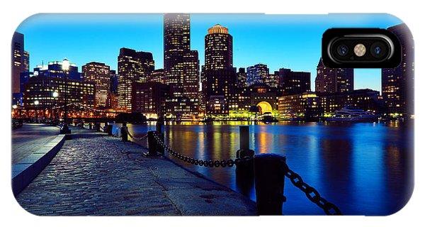 Chain iPhone Case - Boston Harbor Walk by Rick Berk
