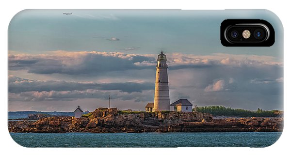 Boston Lighthouse Sunset IPhone Case
