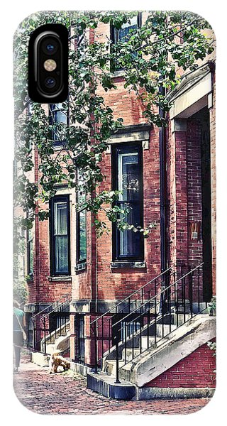 Boston Ma - Walking The Dog On Mount Vernon Street IPhone Case