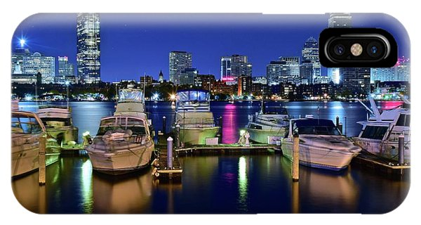 Bean Town iPhone Case - Boston Massachusetts Bay And Boats by Frozen in Time Fine Art Photography