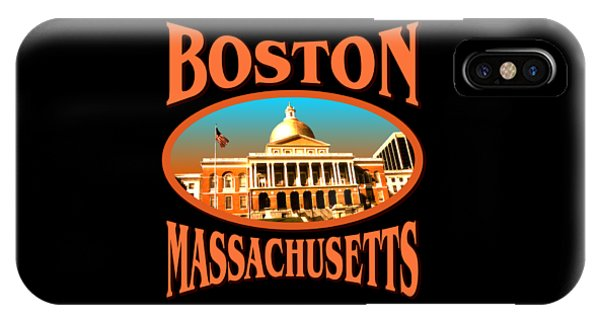 Sports Clothing iPhone Case - Boston Massachusetts Design by Peter Potter