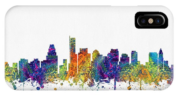 Boston Massachusetts Skyline Color03 IPhone Case