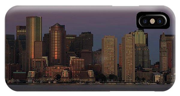 Boston Moonset And Sunrise IPhone Case