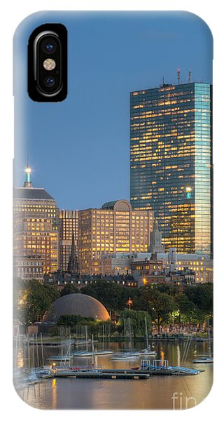 Bean Town iPhone Case - Boston Night Skyline Iv by Clarence Holmes