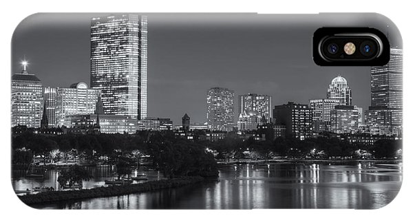 Bean Town iPhone Case - Boston Night Skyline V by Clarence Holmes