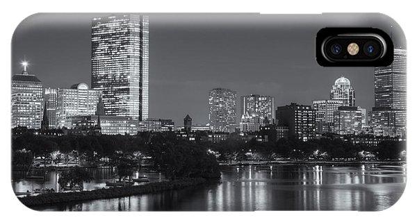 Boston Night Skyline V IPhone Case