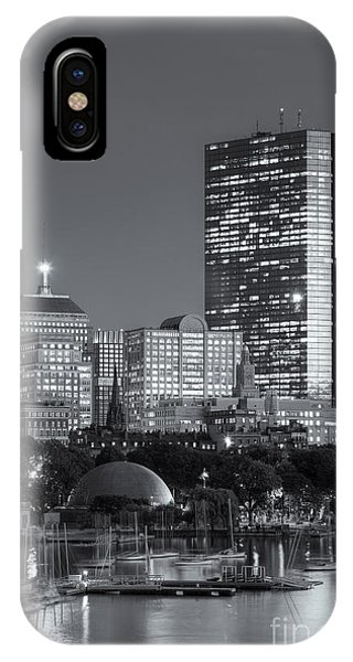 Bean Town iPhone Case - Boston Night Skyline Viii by Clarence Holmes