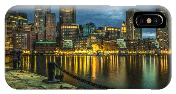 Boston Skyline At Night - Cty828916 IPhone Case