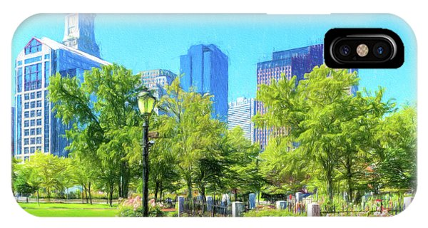 Boston Skyline From Columbus Park IPhone Case