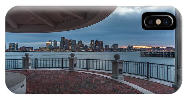 Boston Skyline From Piers Park  East Boston Ma IPhone Case