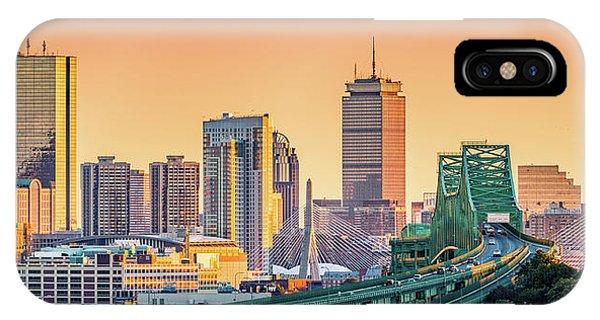Zakim Bridge iPhone Case - Boston Skyline by Mihai Andritoiu