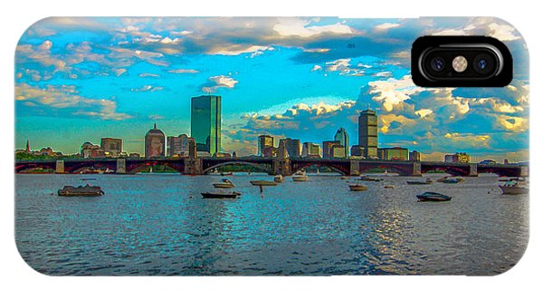 Boston Skyline Painting Effect IPhone Case