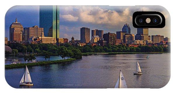Bridge iPhone Case - Boston Skyline by Rick Berk