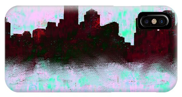 Ben Affleck iPhone Case - Boston Skyline Sky Blue  by Enki Art
