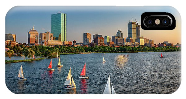 Bean Town iPhone Case - Boston Skyline Summer 2018 by Rick Berk