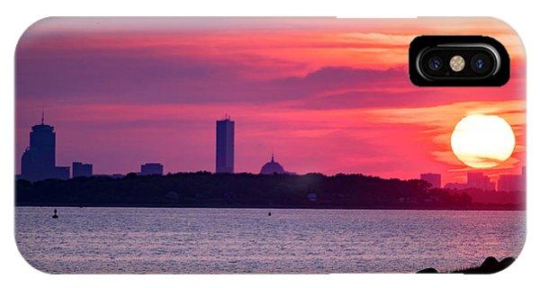 Boston Skyline Worlds End IPhone Case