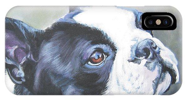 boston Terrier butterfly IPhone Case