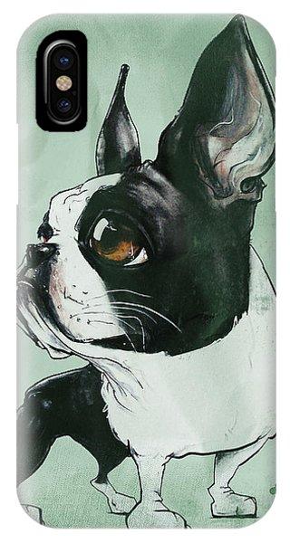 Boston Terrier - Green  IPhone Case