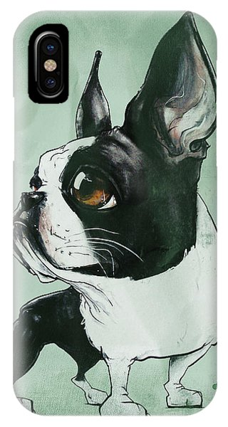 Boston Terrier - Green  IPhone Case
