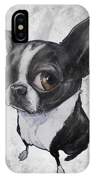Boston Terrier - Grey Antique IPhone Case