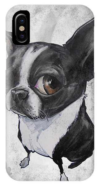 Boston Terrier - Grey Antique IPhone Case