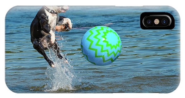 Boston Terrier High Jump IPhone Case