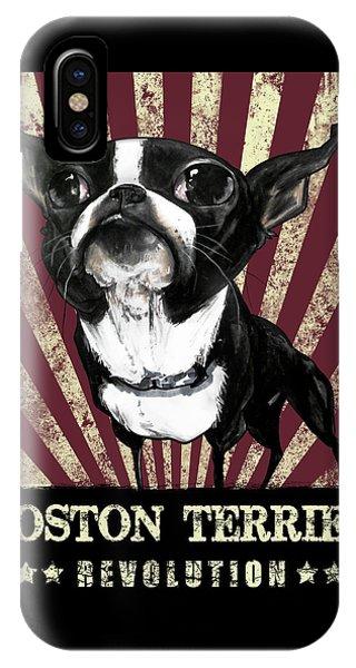 Boston Terrier Revolution IPhone Case