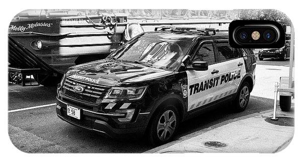 boston transit police ford interceptor suv patrol vehicle Boston USA IPhone Case